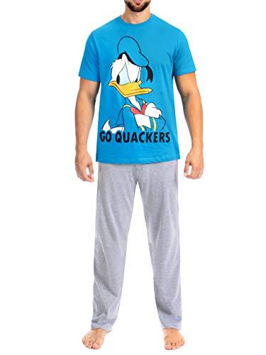Disney Herren Donald Duck Schlafanzug Blau Large