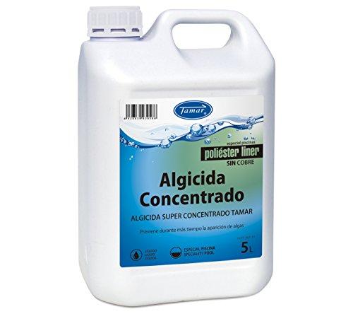 Tamar Algicida Concentrado, Especial Piscinas de Poliester/Liner, Garrafa de 5 litros