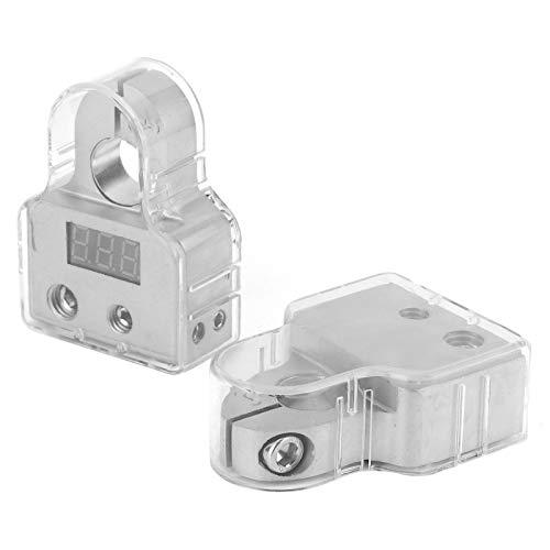 Conectores positivos negativos Poste de terminal de batería resistente Conectores de terminal de batería Abrazadera de terminal de batería Terminal de batería de audio para automóvil para
