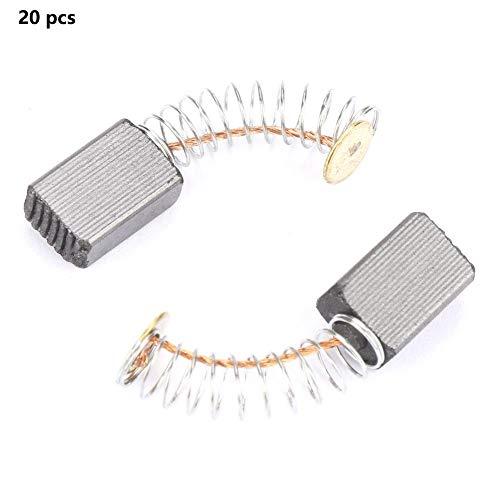 20 stks Motor Koolborstel Vervanging Reparatie Onderdeel Voor Water Molen Machine Motor Wasmachine RCD's Accessoire