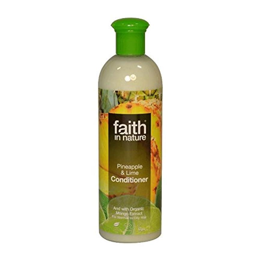 扱いやすいタヒチアルカトラズ島Faith in Nature Pineapple & Lime Conditioner 400ml (Pack of 2) - 自然パイナップル&ライムコンディショナー400ミリリットルの信仰 (x2) [並行輸入品]