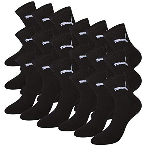 Puma Basic Short Crew Chaussettes de sport unisexe de couleur Mix. Lot de 9 paires.