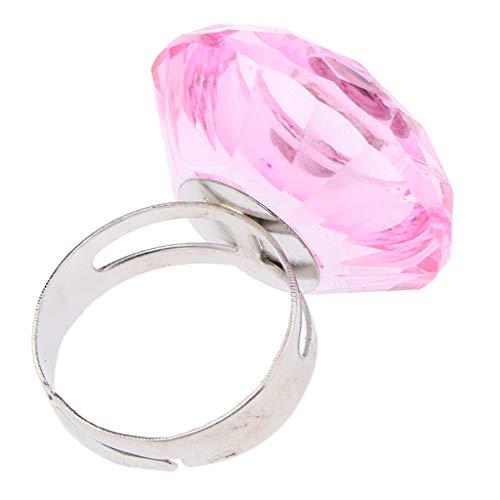 MERIGLARE Ajustez Les Outils De Tatouage D'extension De Cils De Support De Colle De Tasse De Pigment De Bague En Cristal - Rose