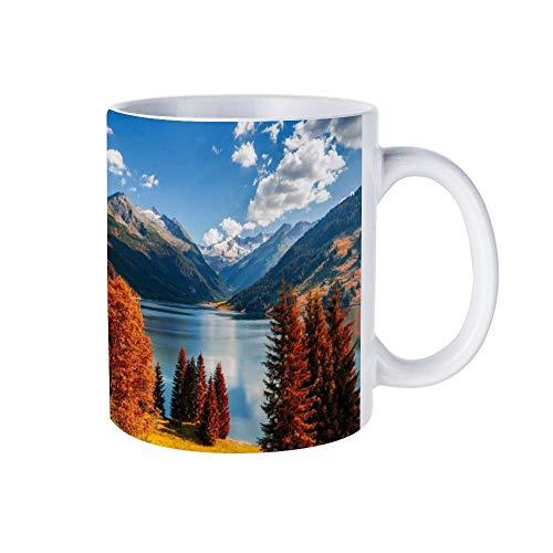 wendana Tasse mit Tirol-Alpen aus Österreich und Tirol-Alpen als Weihnachtstasse, weiße Kaffeetasse, Teetasse, Geburtstagsgeschenke, für Frauen, für Mädchen, für Mama, Papa
