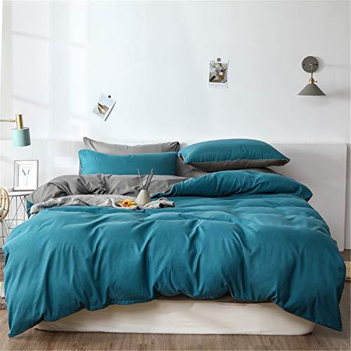 YYSZM Textiles para El Hogar Funda Nórdica Ropa De Cama Juego De 4 Piezas De Moda Atmosférica De Color Sólido Simple 150x200cm