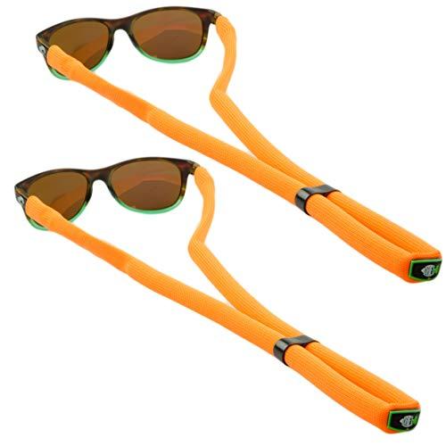 DriftFish Floating Sunglass Strap | Float Your Sunglasses and Glasses | Neoprene Adjustable Eyewear Retainer | Orange (Pack of 2)