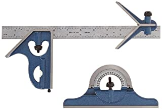 """Fowler 52-385-012 Steel Combination Square Set Includes with Baked Blue Enamel Finish, 4R Graduation Interval, 12"""" Length (B0057PNK4G) 