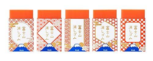 【限定】プラス エアイン 富士山消しゴム 赤富士5柄コンプリートセット