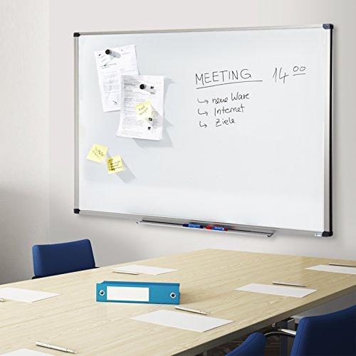 MOB Whiteboard Economy | Testnote 1,5 | schutzlackierte Magnettafel beschreibbar – im stabilen Alurahmen | als Magnetwand, Memoboard – 90x120cm - 4