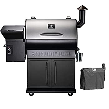 Z GRILLS 2021 Upgrade Wood Pellet Grills 8-in-1 Smoker Grill 700 SQIN Cooking Area,20LB Hopper Free Cover Gift