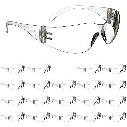 3m safety glasses, virtua, 20 pair, ansi z87, anti-fog scratch...