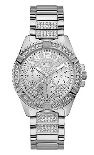 Guess Femme Uhr Analogique Quartz mit Acier Armband W1156L1