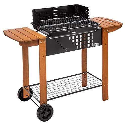 Barbecue Charbon de Bois XXL - Noir - 117 cm