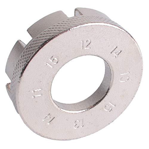 IGOSAIT 1pcs de bicicletas llave de radios accesorios for herramientas regulador de llanta de bicicleta de montaña ranura de reparación de 8 vías del pezón Reparar (Color : Silver)