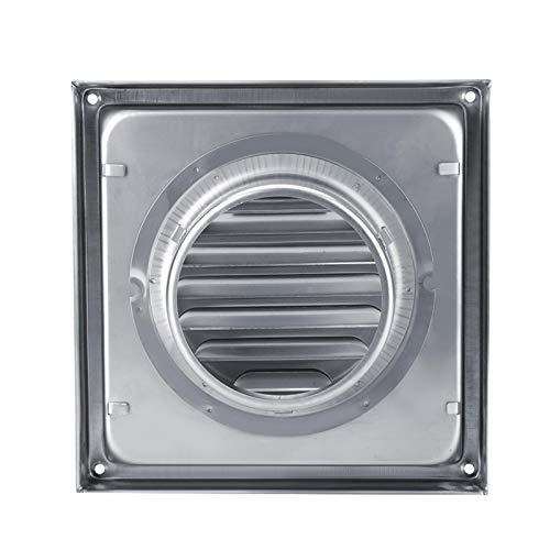 Rejilla de conducto de ventilación de aire, salida de ventilador extractora de secadora de tambor cuadrada de ventilación de aire de pared de acero inoxidable de 95 mm