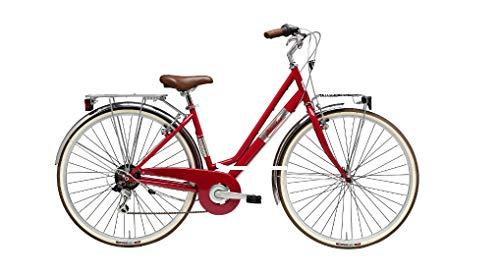 Adriatica Fahrrad-Fahrrad, 28 Zoll, Shimano 6 V, Rot
