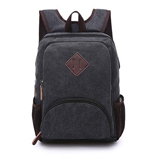 WYYHAA wasserdichte Vintage Leder Casual Rucksack, Schule College Taschen Wandern Reiserucksack Business Daypack Für Männer Und Frauen,E