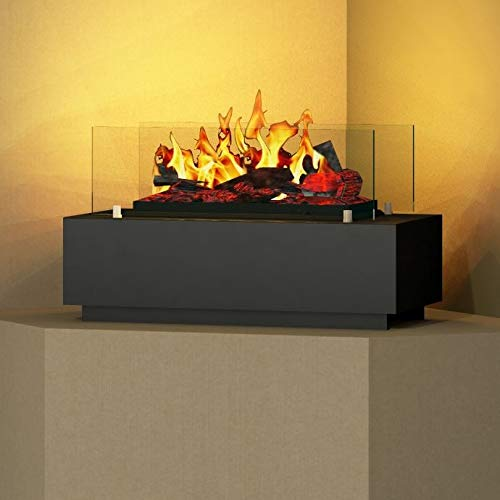 bergamo mobiletti - Opti-Myst Tischkamin Elektro-Kamin – 60 cm - schwarz-grau – offene Feuerstelle mit 3D Nebel-Flammen