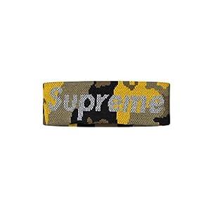 シュプリーム ニューエラ Supreme x NEW ERA REFLECTIVE LOGO HEADBAND ロゴ ヘアバンド ヘッドバンド (YELLOW CAMO)