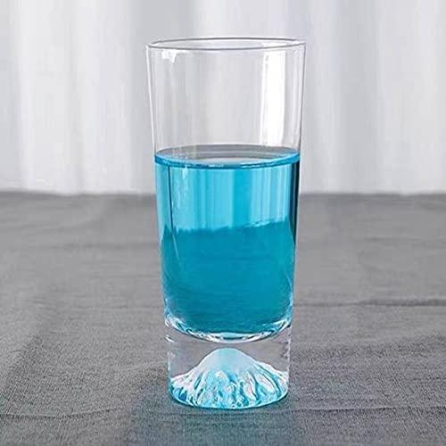 2 Unids / Lote Taza De Jugo De Taza De Agua De Cristal Para El Hogar Taza Creativa De Montaña De Nieve, Barra De Comedor De Cocina