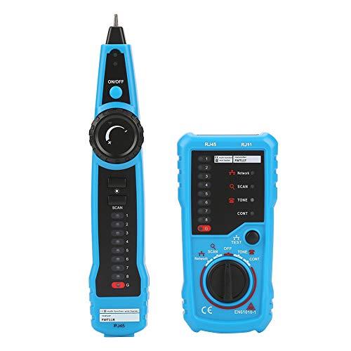 Akozon Wire Tracker, FWT11 Handheld RJ11 RJ45 Telefonkabel Tracker Ethernet LAN Netzwerkkabel Detektor, Tester für Netzwerkkabel Collation, Telefonleitung Tester, Durchgangsprüfung
