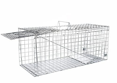 Elbe Safe Trappola per Animali vivi, Innocua trappola viva per gatti, cani, volpi, conigli, ratti, sicuro per bambini e animali domestici, Resistente, 61x21x18 cm