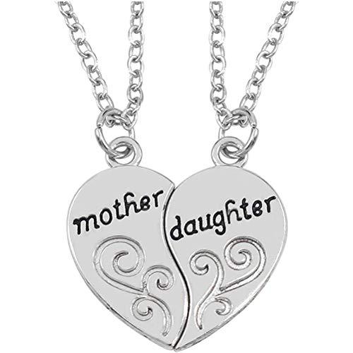 teyiwei El Collar de Material de aleación de diseño de joyería Tiene una Variedad de Estilos de Fuente para Elegir como Regalo Colgante la Biblia de una Hermosa Dama cumpleaños Dia Madre Madre Hija