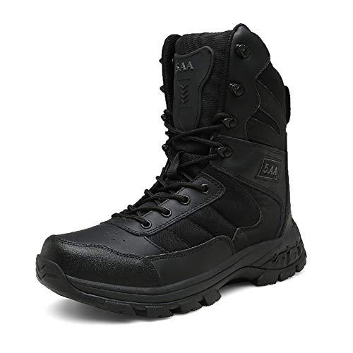 ailishabroy Botas de Hombre Botines Militares de Martin Fight con Zapatos de Microfibra de Cuero