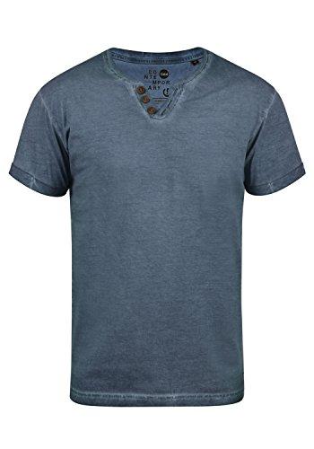 !Solid Tino Herren T-Shirt Kurzarm Shirt Mit V-Ausschnitt Aus 100% Baumwolle, Größe:M, Farbe:Insignia Blue (1991)