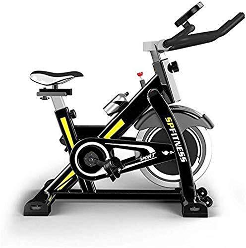 Bicicletas de ejercicios verticales (ciclos de estudio de interior) - Calidad de estudio con monitor de frecuencia cardíaca, volante bidireccional grande, tracción en la correa, resistencia infinita,