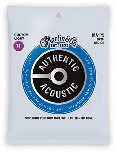 Martin MA175 Authentic Acoustic - SP - 80/20 Bronze Custom Light ( 11-52 )