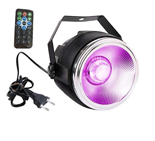 TOM LED 30 W - Proyector de luz RGB COB por canal, reflector de aluminio pulido domo len y 7 dmx512 canal, iluminación de escena para bodas, fiestas, teatro