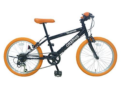 GRAPHIS(グラフィス) 子供用自転車 クロスバイク 20インチ 6段変速 スキュワー式 ジュニアサイクル キッズ...