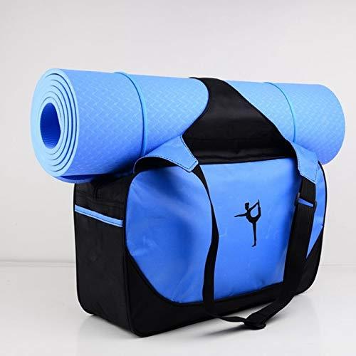 SENFEISM Bolsa de gimnasio de 48 x 24 x 16 cm de alta capacidad para esterilla de yoga, impermeable, bolsa de deporte (sin esterilla de yoga)
