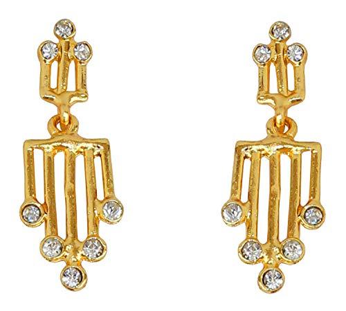 Touchstone exclusivo india diamantes de imitación pendientes colgantes en oro de tono para las mujeres
