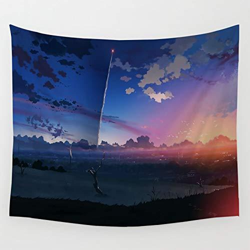 Tapiz para decoración de habitación para dormitorio, anime paisaje, 5 cm por segundo dormitorio, decoración de fiesta, 150 x 130 cm
