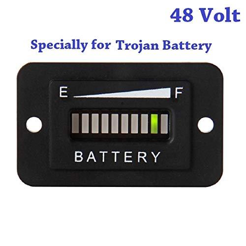 SEARON 48 Volt LED EZGO Battery Meter Indicator Gauge Design Specially for...