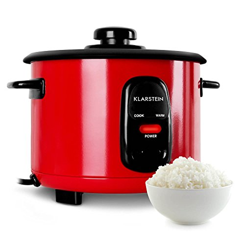 Klarstein Osaka 1,5 Cuiseur à riz électrique (500W, fonction réchauffage, capacité 1,5L, cuillère et gobelet doseur inclus, arrêt automatique) - rouge
