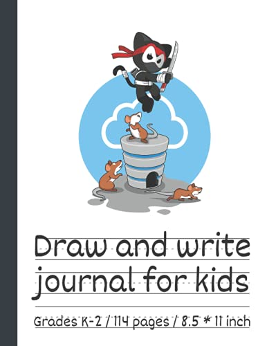 Draw and write journal for kids writing and drawing story paper: Early Creative Story Book for Kids. Primary story journal grades k-2. Dotted midline ... Large 8.5'' x 11'' size, 114 White Page