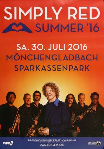 Simply Red - Summer, Mönchengladbach 2016 » Konzertplakat/Premium Poster | Live Konzert Veranstaltung | DIN A1 «
