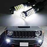 iJDMTOY (2) 6000K Xenon White CAN-bus LED Daytime Running Light DRL Bulbs Compatible With 2015-2018 Jeep Renegade