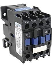 Heschen AC Contactor CJX2-1810 24V 50/60Hz Bobina 3P 3 polos normalmente abierto Ie 18A Ue 380V