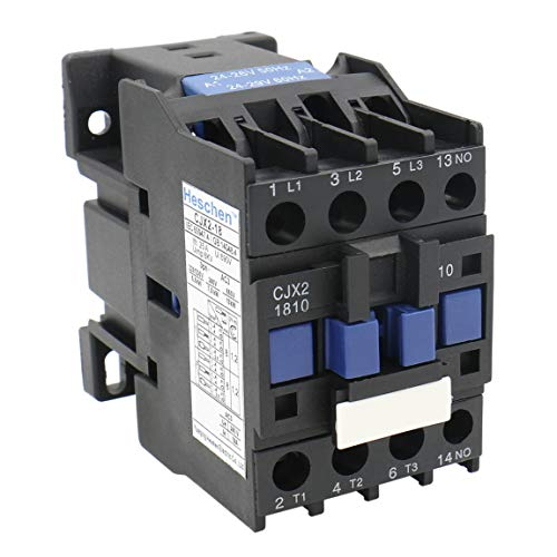 Heschen AC Contactor CJX2-1810 24V 50/60Hz Coil 3P 3 Pole Normally Open Ie 18A Ue 380V