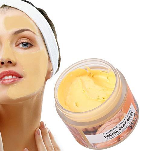 Kurkuma-Ton-Gesichtsmaske, 50 ml Peel-Off-Maske Aufhellende, pflegende Schlammmaske Reduziert Falten Hautpflegemittel für hyperpigmentierte Haut