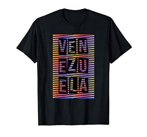 Venezuela diseño tradicional artístico cromático Camiseta