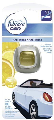 Febreze Car Auto-Lufterfrischerclip Anti-Tabak, 6er Pack (6 x 2 ml)