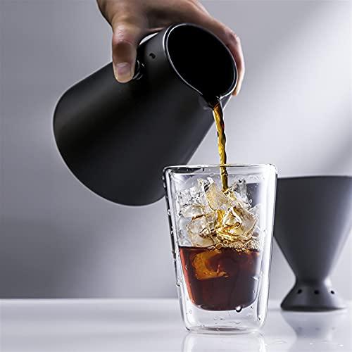 Diseño de la mano del hogar Conjunto de café con filtro V60 Drip Dispositivo de cerámica Material de cerámica 650ml Compartir cafetera (Color : Sharing Pot 650ml)