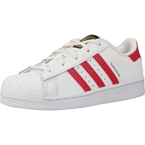 adidas Unisex-Kinder Superstar Basketballschuhe, Elfenbein (Footwear White/Bold Pink/Footwear White), 28 EU