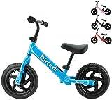 Dresiennes Enfant 1 2 3 Ans 12 Pouces Kids Bike Balance Bike Sport Bike avec Cadre en Acier, Guidon réglable et siège pour Enfants, Bleu