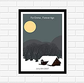 Pearl Shine Bon Iver Music Poster Gifts for Lovers Poster Poster Home Art Wall Posters [No Framed]